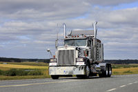 Classic Kenworth W900B Semi Tractor on Road