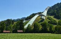 Olympiaschanze in Garmisch-Partenkirchen, Bayern, Deutschland
