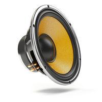 Loudspeaker.  Multimedia acoustic sound speaker isolated on white  background.