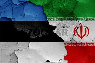 flags of Estonia and Iran