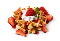 viennese waffles with strawberry