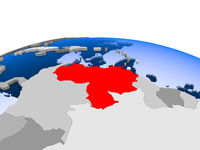 Venezuela on political globe