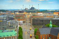 skyline Copenhagen industrial factory Denmark