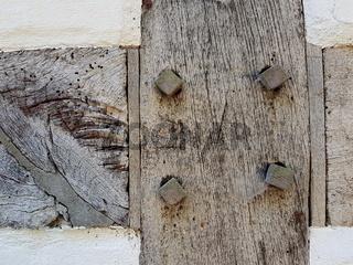 Detail von einem alten Fachwerk in Norddeutschland
