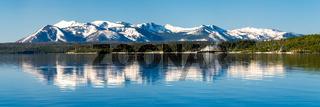 Beautiful Yellowstone Lake in Yellowstone National Park