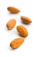 Dried almond nuts.
