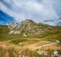 Summer mountain Durmitor panoramic road, Sedlo pass, Montenegro.
