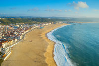 Skyline of Nazare, beach. Portugal