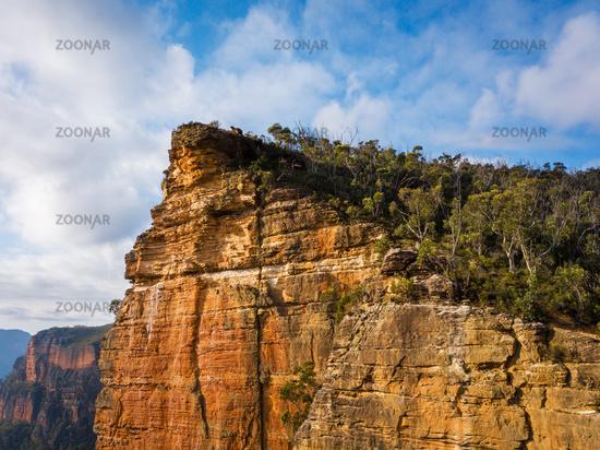 Sheer cliffs of Burramoko Head Balzer Lookout