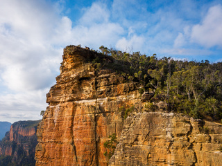 Sheer cliffs of Burramoko Head Balzer Lookout