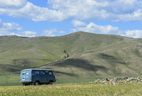 Steppenlandschaft im Khangai Nuruu Nationalpark