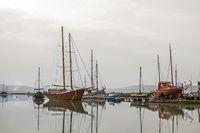 Fischerboote bei Seca in Slowenien