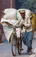 Old poor indian man