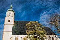 dach mit turm der wenzeslaikirche in wurzen, germany