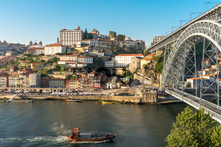 Pleasure boat on the Douro river at Porto