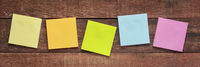 colorful blank reminder notes