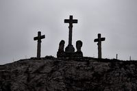 Crosses on the hill
