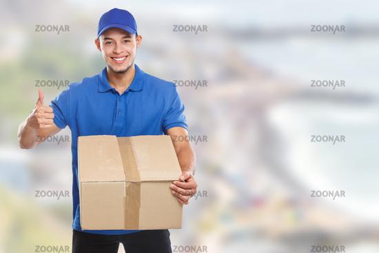 Package parcel delivery service box order delivering job success copyspace copy space