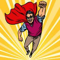 man retired superhero. Health and longevity of older people