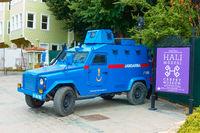 Armored police car