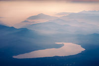 mountain lake in Japan