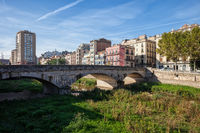 City of Girona Riverside Skyline