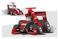 Vector cartoon sport race cars isolated on white