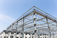 steel structure factory building under construction