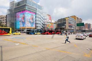 Bogota tenth avenue in Santa Ines district