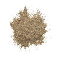 Black Pepper Powder Isolated On White Background
