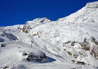 Skigebiet Längfluh, Saas-Fee, Wallis, Schweiz