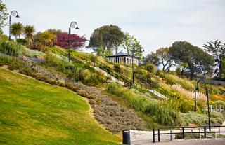 The Seafront gardens of Lyme Regis. West Dorset. England