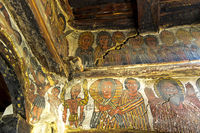 Wandgemälde biblischer Szenen, Felsenkirche Petros and Paulos Melehayzengi, Äthiopien