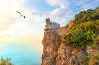 The Swallow Nest and the Black sea scenery, Crimea