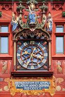 Rathaus-Uhr Basel Schweiz