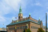Copenhagen city hall exterior on a sunny day