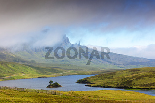 Gebirgsformation Old man of storr, Isle of Skye, Schottland