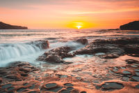 Summer sunrise beautiful sea coast Australia