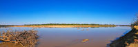 Panorama der Landschaft am Luangwa, South Luangwa Nationalpark, Sambia | landscape at the Luangwa River, Zambia