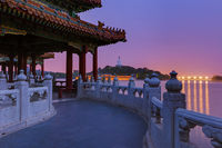 Sunset In the Beihai Park - Beijing China