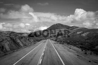 Desert road in north Argentina quebrada