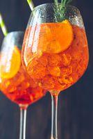 Glasses of Aperol Spritz cocktail
