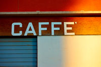 Retro sign of a cafe
