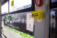 Bus ticket perforator charging
