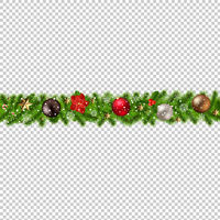 Christmas Border Isolated transparent Background