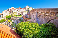 Histroic Dubrovnik old town view from city walls