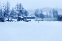 Lake Weissensee with snow