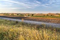 railway tracks in Nebraska Sandhills