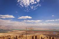 Ruins of Massada Fortress in Negev