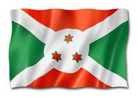 Burundian flag isolated on white